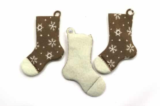 Geschenkanhänger Stiefel, braun, 70 mm, 20 Stück - geschenkanhaenger, accessoires
