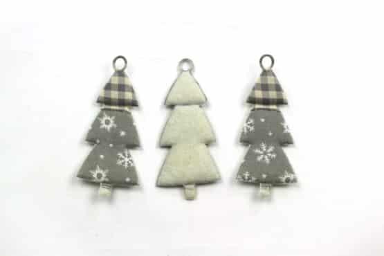 Geschenkanhänger Tannenbaum, grau, 60 mm, 20 Stück - geschenkanhaenger, accessoires