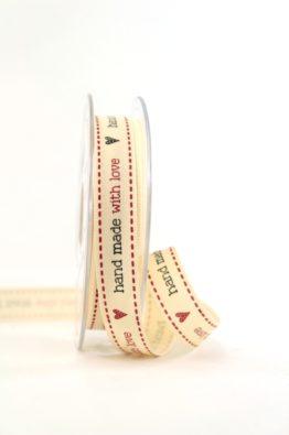 Geschenkband 15mm HandMadeWithLove (6336771500120)
