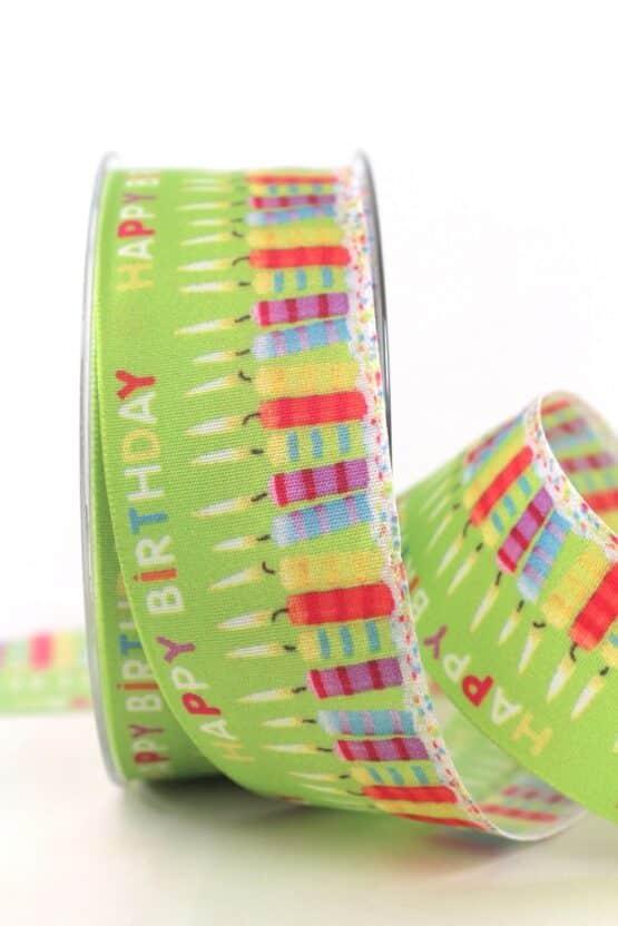 Geschenkband Geburtstagskerzen, 40 mm - party, geschenkband-fuer-anlaesse, dekoband, anlasse