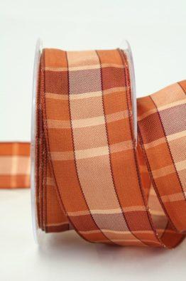 Geschenkband Karo braun 40mm (40491-40-125)