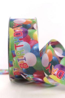 Geschenkband Luftballons Happy  Birthday 40mm (804094000015)