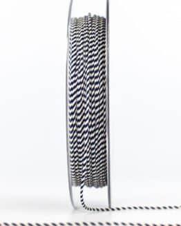 Dünne Kordel, blau/weiß, 1 mm stark - kordeln, andere-baender