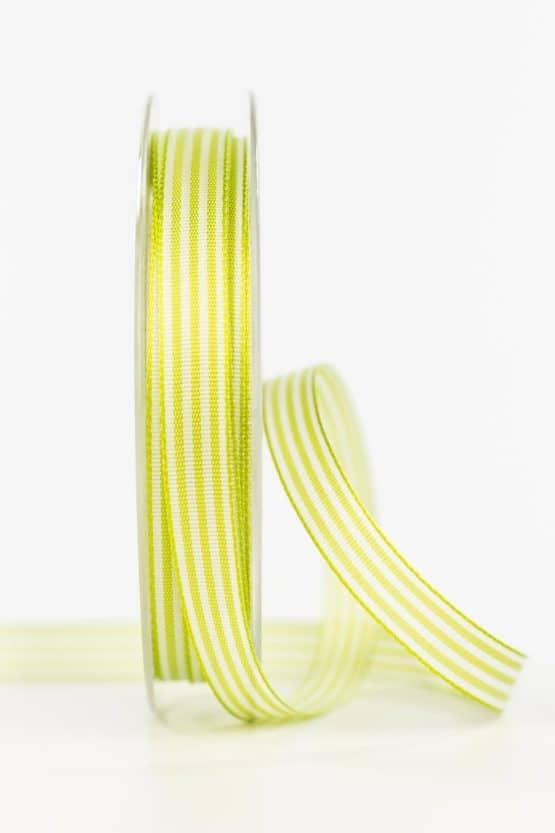 Gestreiftes Geschenkband, lindgrün, 10 mm breit - geschenkband, geschenkband-gemustert