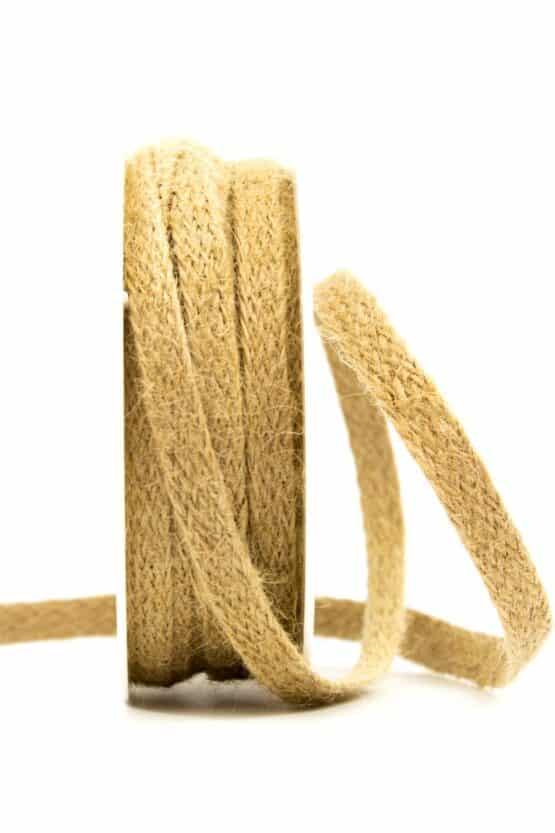 Juteflechtband natur, 10 mm breit - juteband, geschenkband, geschenkband-einfarbig, dekoband, andere-baender