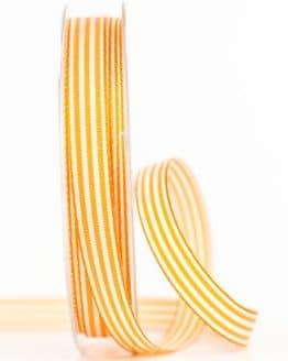 Gestreiftes Geschenkband, orange, 10 mm breit - geschenkband, geschenkband-gemustert