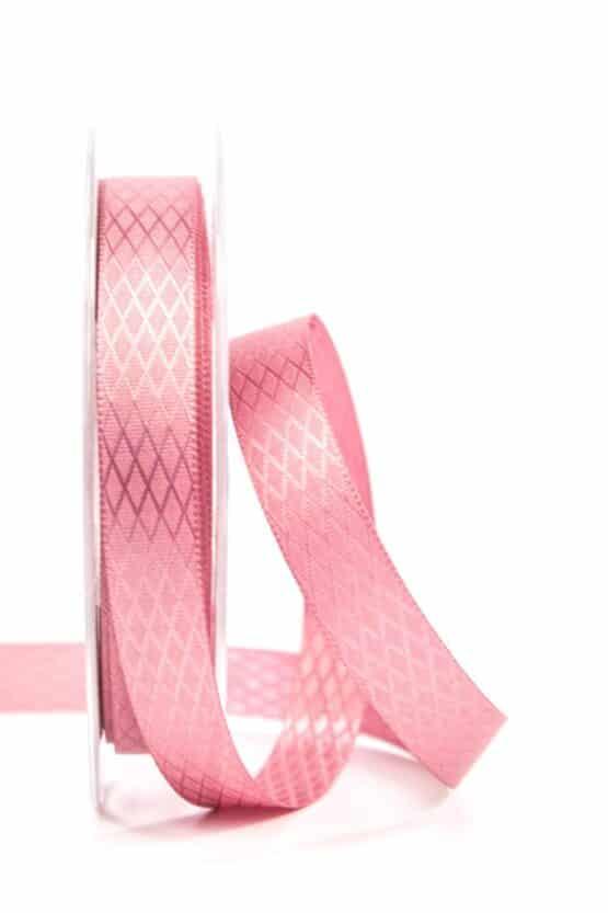 Gemustertes Satinband, altrosa, 15 mm - hochzeit, geschenkband, geschenkband-fuer-anlaesse, geschenkband-einfarbig, anlasse