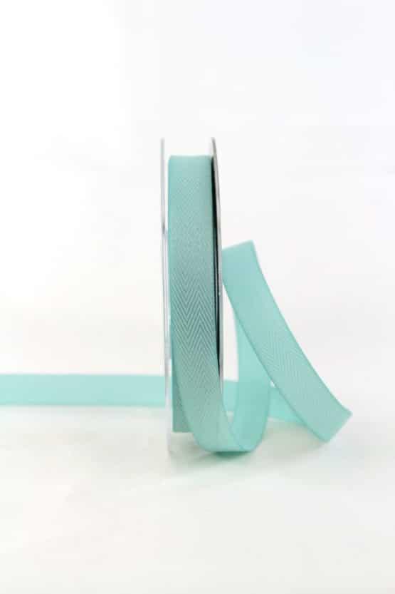 Leinenband mit dezentem Webmuster, türkis, 15 mm breit - geschenkband, geschenkband-einfarbig
