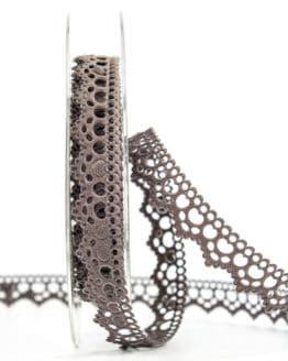 Dekolitze, taupe, 15 mm breit - vintage-baender, spitzenbaender, hochzeit, geschenkband, geschenkband-fuer-anlaesse, anlasse
