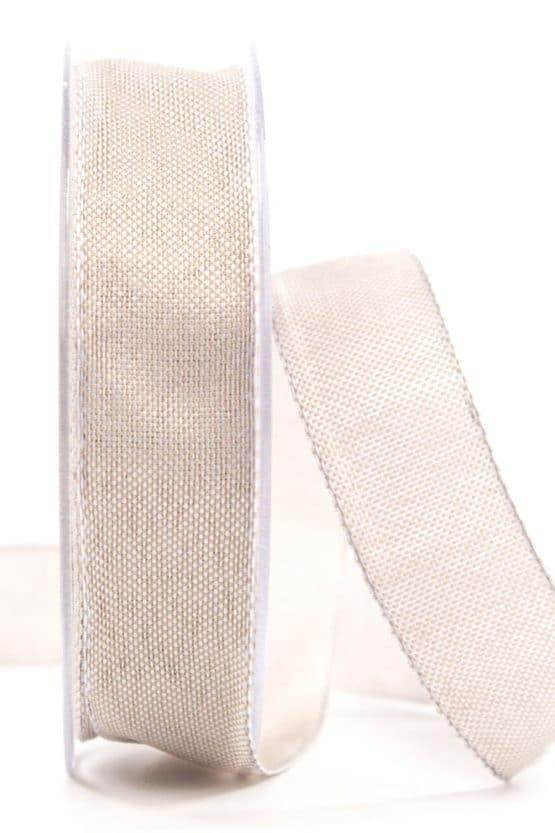 Hochwertiges einfarbiges Geschenkband, sand, 25 mm breit - geschenkband, geschenkband-einfarbig