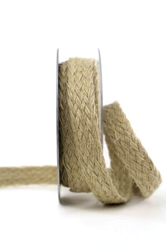 Schmales Jute-Flechtband, natur, 25 mm breit - vintage-baender, geschenkband