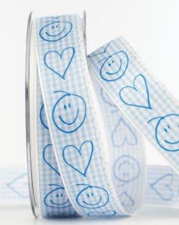 Geschenkband Baby, hellblau, 25 mm breit - geschenkband, geschenkband-fuer-anlaesse, baby, anlasse