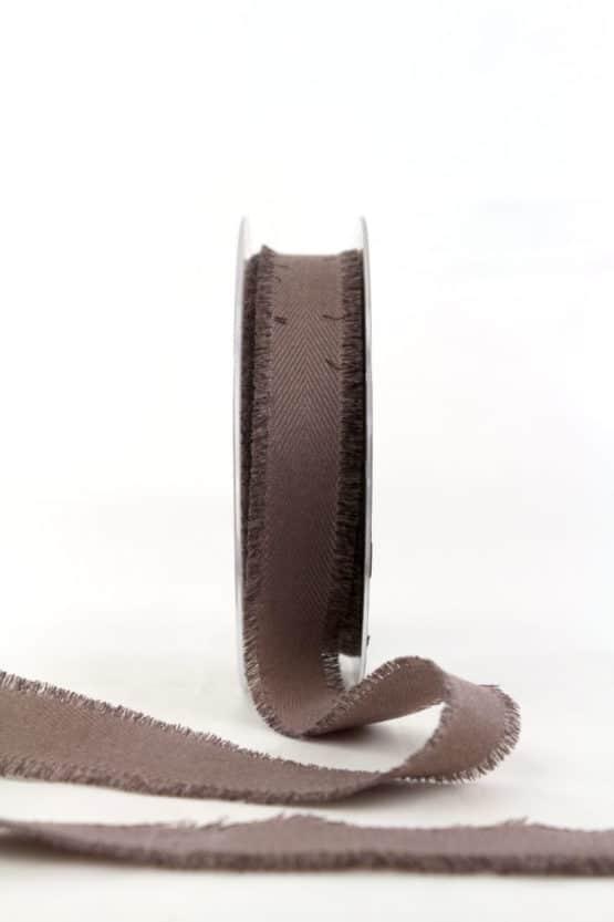 Leinenband, braun, 25 mm breit - geschenkband, geschenkband-einfarbig