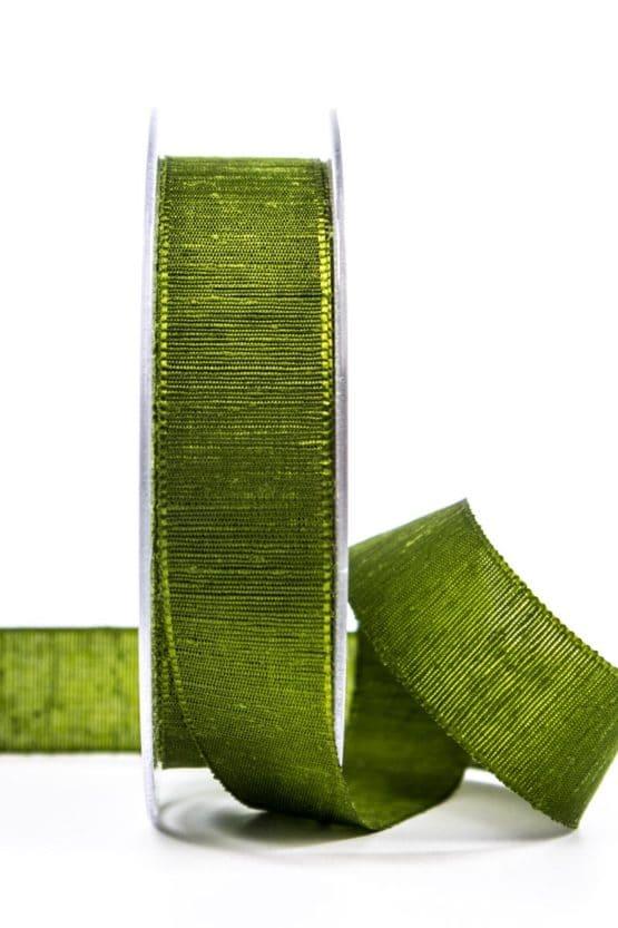 Geschenkband m. schöner Webstruktur, dunkelgrün, 25 mm breit - geschenkband, geschenkband-einfarbig