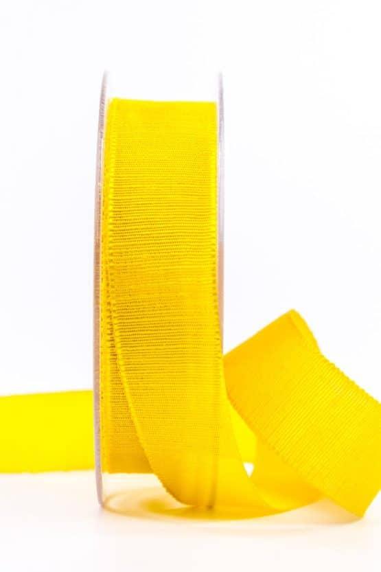Geschenkband m. schöner Webstruktur, gelb, 25 mm breit - geschenkband, geschenkband-einfarbig