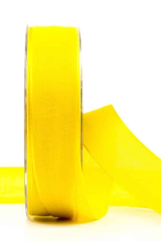 Geschenkband Leinen, gelb, 25 mm breit - geschenkband, geschenkband-einfarbig