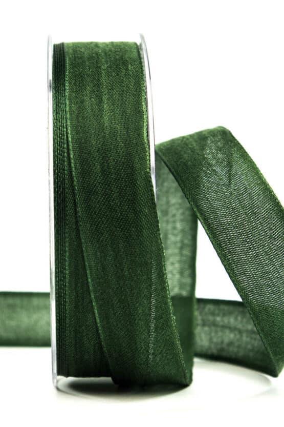 Geschenkband Leinen, tannengrün, 25 mm breit - geschenkband, geschenkband-einfarbig