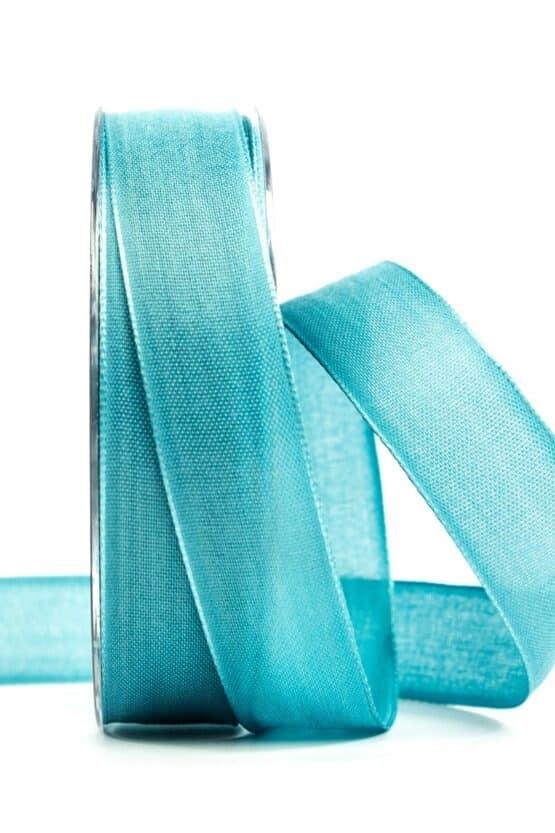 Geschenkband Leinen, türkis, 25 mm breit - geschenkband, geschenkband-einfarbig