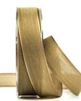 Geschenkband Leinen, goldbraun, 25 mm breit - geschenkband, geschenkband-einfarbig