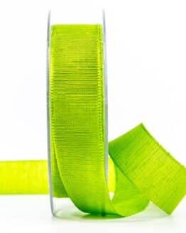 Geschenkband m. schöner Webstruktur, hellgrün, 25 mm breit - geschenkband, geschenkband-einfarbig