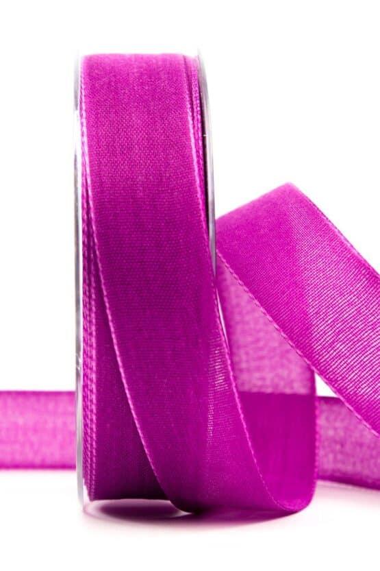 Geschenkband Leinen, mauve, 25 mm breit - geschenkband, geschenkband-einfarbig