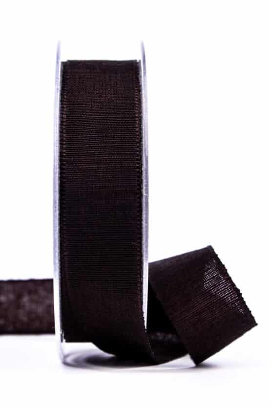 Geschenkband m. schöner Webstruktur, schokobraun, 25 mm breit - geschenkband, geschenkband-einfarbig