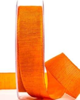 Geschenkband m. schöner Webstruktur, orange, 25 mm breit - geschenkband, geschenkband-einfarbig