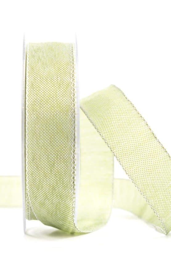 Hochwertiges einfarbiges Geschenkband, olivgrün, 25 mm breit - geschenkband, geschenkband-einfarbig
