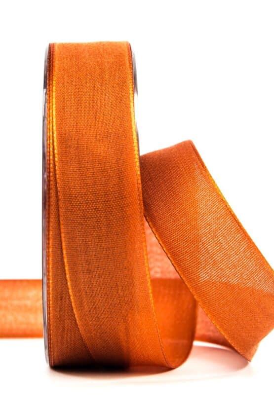 Geschenkband Leinen, dunkelorange, 25 mm breit - geschenkband, geschenkband-einfarbig