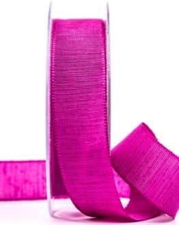 Geschenkband m. schöner Webstruktur, pink, 25 mm breit - geschenkband, geschenkband-einfarbig