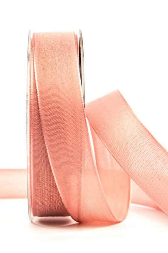 Geschenkband Leinen, flamingo, 25 mm breit - geschenkband, geschenkband-einfarbig