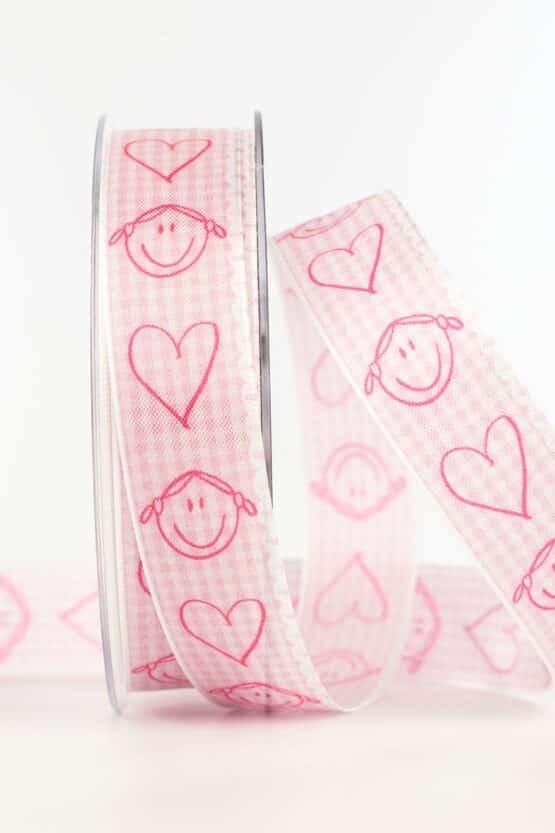 Geschenkband Baby, rosa, 25 mm breit - geschenkband, geschenkband-fuer-anlaesse, baby, anlasse