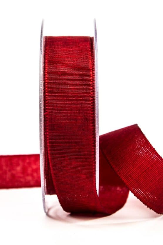 Geschenkband m. schöner Webstruktur, rot, 25 mm breit - geschenkband, geschenkband-einfarbig