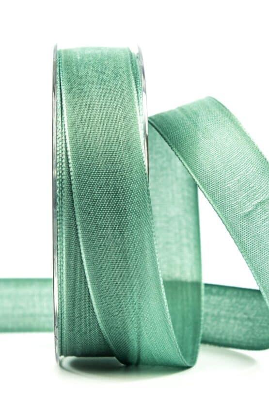 Geschenkband Leinen, mintgrün, 25 mm breit - geschenkband, geschenkband-einfarbig