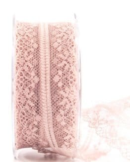 Feine Spitze, altrosa, 40 mm breit - spitzenbaender, hochzeit, geschenkband, geschenkband-fuer-anlaesse, anlasse