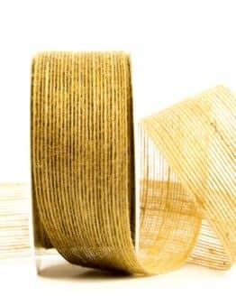 Juteband natur, 40 mm breit - juteband, geschenkband, geschenkband-einfarbig, dekoband, andere-baender