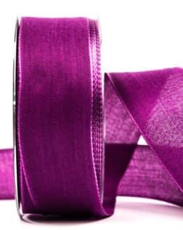 Geschenkband Leinen, mauve, 40 mm breit - geschenkband, geschenkband-einfarbig