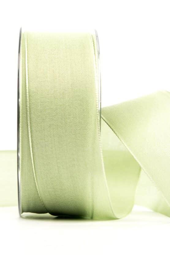 Geschenkband Leinen, mintgrün, 40 mm breit - geschenkband, geschenkband-einfarbig