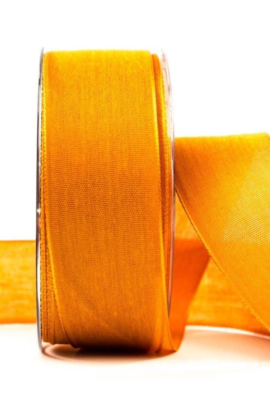 Geschenkband Leinen, orange, 40 mm breit - geschenkband, geschenkband-einfarbig