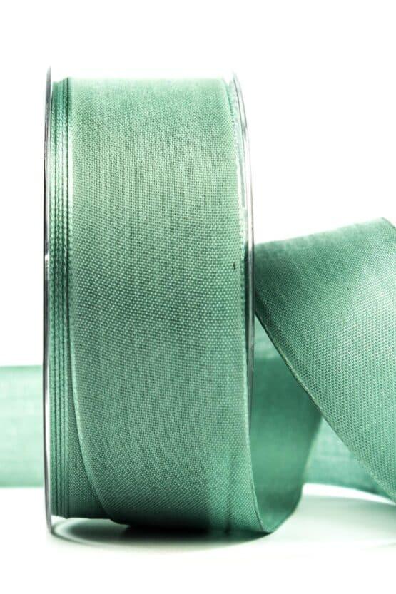 Geschenkband Leinen, eisgrün, 40 mm breit - geschenkband, geschenkband-einfarbig
