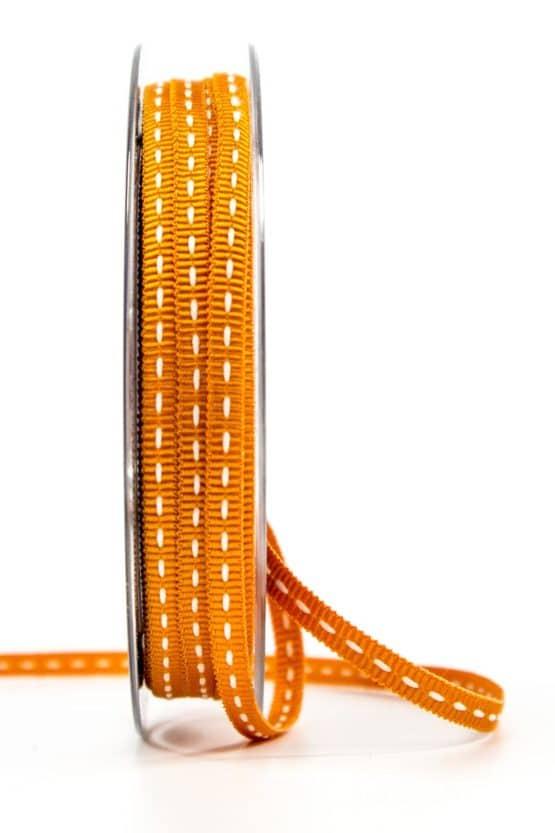 Stichband, orange, 5 mm breit - geschenkband, geschenkband-gemustert