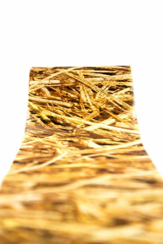Vliesband Stroh, 80 mm breit - vliesband, dekoband, andere-baender