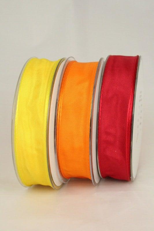 Taftband mit Drahtkante, 40 mm breit - taftband-mit-drahtkante, dauersortiment