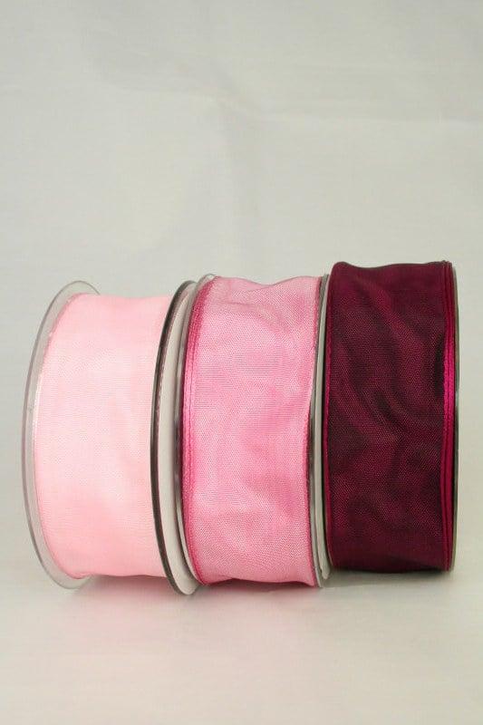 Dekoband mit Drahtkante, 40 mm breit - dauersortiment, dekoband-mit-drahtkante