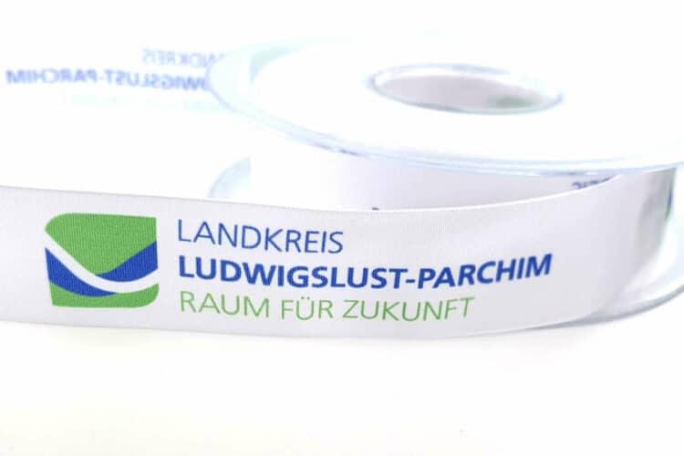 Geschenkband mit Logo für die kommunale Öffentlichkeitsarbeit - personaliserte-bander