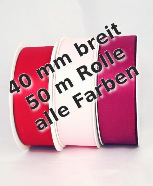 Taftband 40 mm breit - taftband, dauersortiment