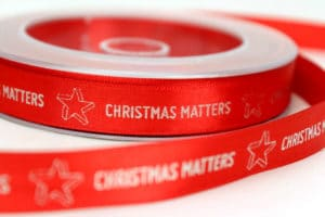 Geschenkband bedrucken lassen für Weihnachten und Weihnachtsgeschenke