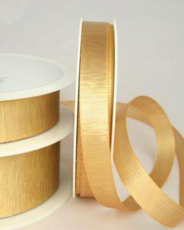 Goldenes Geschenkband in 15, 25 und 40 mm, ohne Drahtkante - weihnachtsband