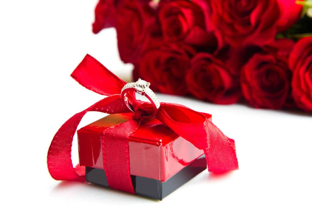 Schmuckverpackung-Geschenkbox mit Schleife für Juweliere