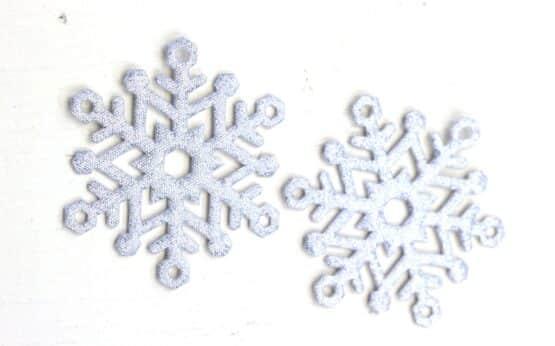 Geschenkanhänger Eiskristall silber, aus Stoff, 20 Stück Beutel - geschenkanhaenger, accessoires